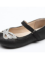 cheap -Girls' Shoes Cowhide Spring & Summer Comfort Flats for Gold / Black / Silver