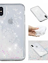 billiga -fodral Till Apple iPhone X / iPhone 8 Plus Flytande vätska / Mönster / Glittrig Skal Glittrig / Maskros Mjukt TPU för iPhone X / iPhone 8 Plus / iPhone 8