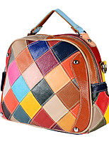 preiswerte -Damen Taschen Leder Umhängetasche Perlenstickerei Regenbogen