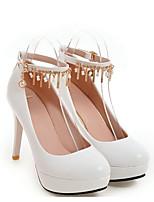 Недорогие -Жен. Обувь Полиуретан Весна / Осень Удобная обувь / Туфли лодочки Обувь на каблуках На шпильке Белый / Черный / Розовый