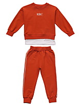 Недорогие -Дети (1-4 лет) Девочки Однотонный Длинный рукав Набор одежды