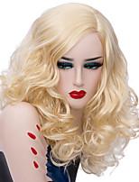 Недорогие -Wig Accessories / Парики из искусственных волос Кудрявый Золотистый Средняя часть Искусственные волосы Модный дизайн / Для вечеринок Золотистый Парик Жен. Короткие Без шапочки-основы