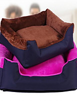 cheap -Casual / Daily Dog Clothes Bed Color Block Brown / Blue / Pink Dogs / Cats