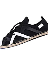 cheap -Men's Canvas / PU(Polyurethane) Fall Comfort Sneakers Color Block White / Black / Blue