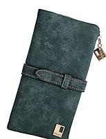 cheap -Unisex Bags Suede Wallet Zipper Purple / Fuchsia / Coffee