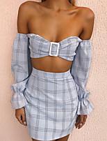 cheap -Women's Shirt - Striped Skirt