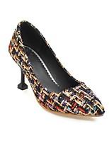 cheap -Women's Shoes PU(Polyurethane) Spring & Summer Comfort Heels Heterotypic Heel White / Black / Pink