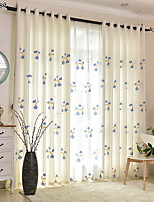 cheap -Kids Curtains Kids Room Floral Cotton / Polyester Embroidery