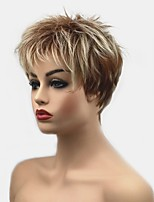 cheap -Synthetic Wig Straight Pixie Cut Synthetic Hair Synthetic Blonde Wig Women's Short Capless