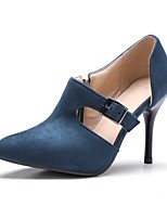 Недорогие -Жен. Обувь Замша Весна лето Удобная обувь Обувь на каблуках На шпильке Черный / Зеленый / Винный