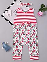 cheap -Baby Girls' Floral Sleeveless Romper
