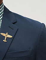 cheap -Men's Stylish Brooches - Airplane Trendy, Fashion, Elegant Brooch Gold / Silver For Wedding / Holiday