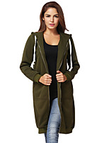 cheap -women's t-shirt - solid colored hooded