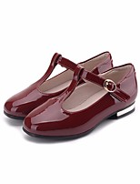 cheap -Girls' Shoes PU(Polyurethane) Spring &  Fall Comfort / Flower Girl Shoes Flats for Black / Wine