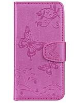 billige -Etui Til Xiaomi Mi 8 Kortholder / Mønster Fuldt etui Sommerfugl / Blomst Hårdt PU Læder for Xiaomi Mi 8