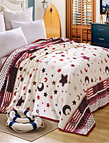 cheap -Coral fleece, Pigment Print Galaxy Cotton / Polyester Blankets