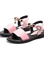 Недорогие -Девочки Обувь Полиуретан Лето Удобная обувь / Детская праздничная обувь Сандалии для Черный / Коричневый / Розовый