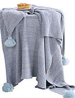 baratos -Velocino de Coral, Estampa Pigmentada Sólido Algodão / Poliéster cobertores