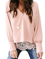 Недорогие -Жен. Блуза Активный / Классический Контрастных цветов