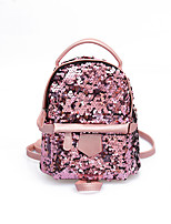 cheap -Women's Bags PU(Polyurethane) Backpack Sequin Black / Blushing Pink / Silver