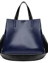 cheap -Women's Bags PU(Polyurethane) Tote Buttons Dark Blue / Brown / Wine