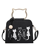 cheap -Women's Bags PU(Polyurethane) Shoulder Bag Pattern / Print Red / Blushing Pink / Gray