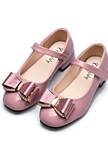 cheap -Girls' Shoes PU(Polyurethane) Spring & Summer Comfort / Flower Girl Shoes Flats Walking Shoes Bowknot for Teenager Black / Pink / Burgundy