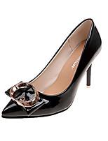 preiswerte -Damen Schuhe PU Sommer Pumps High Heels Stöckelabsatz Spitze Zehe Schwarz / Purpur / Rot / Party & Festivität