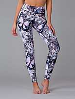 cheap -Women's Daily Sporty Legging - Floral / Geometric / Galaxy Mid Waist