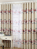 cheap -Kids Curtains Kids Room Geometric / Cartoon Cotton / Polyester Printed