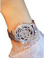 cheap -Women's Wrist Watch Chronograph / Luminous / Casual Watch Alloy Band Flower / Elegant Silver / Gold