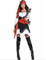 abordables -Pirates of the Caribbean / Pirata Disfrace de Cosplay / Tocados Halloween / Carnaval Festival / Celebración Disfraces de Halloween Negro Retazos Cosplay / Halloween