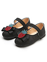 cheap -Girls' Shoes PU(Polyurethane) Spring & Summer Comfort / Flower Girl Shoes Flats Walking Shoes Sparkling Glitter / Magic Tape for Kids Black / Silver