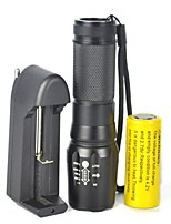 cheap -LED Flashlights / Torch / Flashlight Kits LED 5000 lm 1 Mode Portable / Easy Carrying Camping / Hiking / Caving / Cycling / Bike