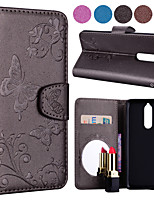 cheap -Case For Nokia Nokia 8 / Nokia 5 / Nokia 3 Card Holder / Flip / Pattern Full Body Cases Solid Colored / Butterfly Hard PU Leather for Nokia 8 / Nokia 5 / Nokia 3