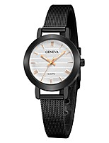 cheap -Geneva Women's Wrist Watch Chinese New Design / Casual Watch / Cool Alloy Band Casual / Fashion Black / Silver / Gold
