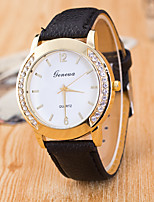 cheap -Women's Wrist Watch Chinese Casual Watch PU Band Fashion Black / White / Blue