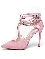 cheap -Women's Shoes Nappa Leather Spring Comfort / Basic Pump Heels Stiletto Heel White / Black / Pink