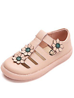 cheap -Girls' Shoes Cowhide Spring & Summer Comfort Sandals Hollow-out for Kids White / Pink