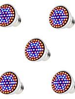 cheap -5pcs 5 W 400 lm E26 / E27 Growing Light Bulb 60 LED Beads SMD 2835 Full Spectrum Red / Blue 220-240 V