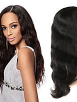 cheap -Human Hair Full Lace Wig Indian Hair Body Wave Wig Asymmetrical Haircut 130% / 150% / 180% Odor Free / Woven / New Arrival Black Women's Mid Length Human Hair Lace Wig / Fashion