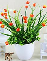 baratos -Flores artificiais 1 Ramo Clássico Moderno / Contemporâneo / Estilo simples Tulipas / Flores eternas / Vaso Flor de Mesa