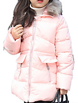 cheap -Kids Girls' Solid Colored Long Sleeve Down & Cotton Padded