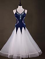 preiswerte -Für den Ballsaal Kleider Damen Leistung Elasthan / Organza Horizontal gerüscht / Kombination / Kristalle / Strass Ärmellos Kleid