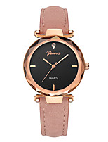 cheap -Geneva Women's Wrist Watch Chinese New Design / Casual Watch / Cool Leather Band Casual / Fashion Black / Red / Grey