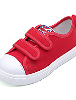 cheap -Girls' Shoes Canvas Spring & Summer Comfort Sneakers Walking Shoes for Teenager White / Black / Red