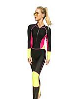 economico -Per donna Muta da sub Design anatomico, Permeabile all'umidità, Traspirante Elastene Integrale Costumi da bagno Abbigliamento mare Costumi da bagno Zip anteriore Surf / Windsurf / Wakeskate