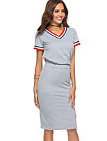 cheap -Women's Tank Top - Striped Skirt