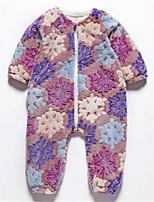 Недорогие -малыш Девочки Цветочный принт Длинный рукав 1 предмет