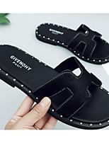 Недорогие -Жен. Обувь Конский волос Лето Удобная обувь Тапочки и Шлепанцы На плоской подошве Черный